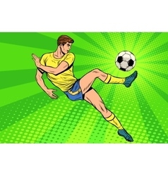 Football has a soccer ball summer sports games vector