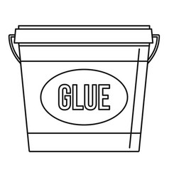 Glue icon outline style vector