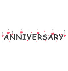 Happy anniversary banner vector