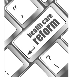 Health care reform shown by health computer vector