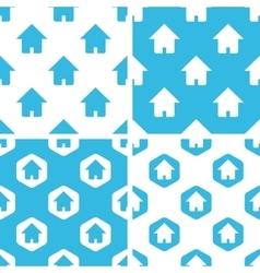 Home patterns set vector