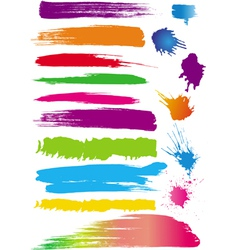 ink and paint splatters vector image