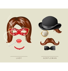 lady and gentleman costume vector image