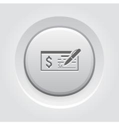 Money check business icon vector
