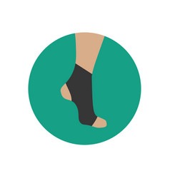 neoprene brace on the ankle vector image vector image