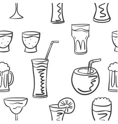 Pattern style drink various collection vector