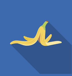 Peel of banana icon in flate style isolated on vector