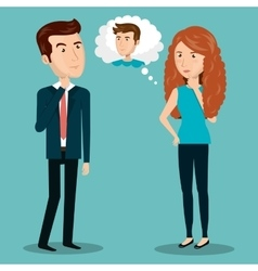 people persons thinking icon vector image