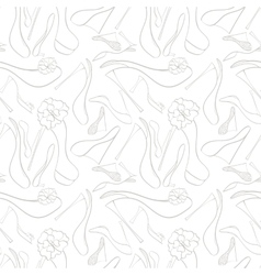 Seamless shoes pattern vector image