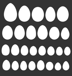 Set egg shape template for easter holiday vector
