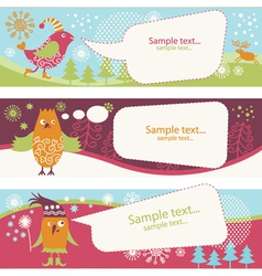 Set of holiday banners vector