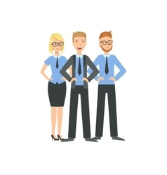 Three managers teamwork vector