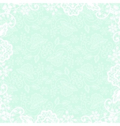 white lace on beige background vector image vector image