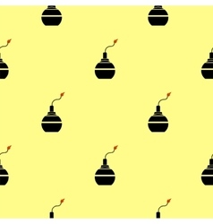Bomb Silhouettes Seamless Pattern vector image