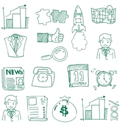 Doodle of business theme hand draw vector