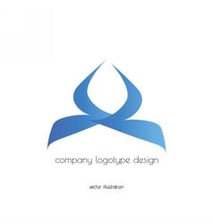 company logo design blue vector image
