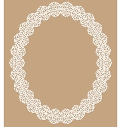 White lace frame vector