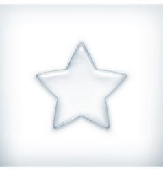 White star vector image