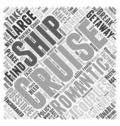 Cruise ships a romantic getaway for couples word vector