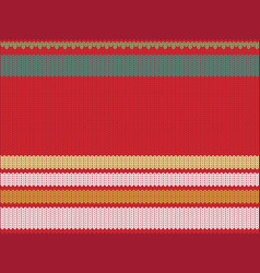 Striped knitting background vector