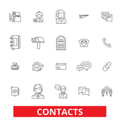 contacts partners communication correspondence vector image