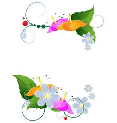 Bright flower arrangement vector