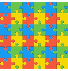 Puzzles Seamless color pattern vector image
