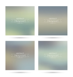 Set colorful abstract backgrounds blurred vector