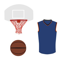Basketball set vector