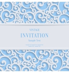 Blue 3d vintage christmas or invitation vector