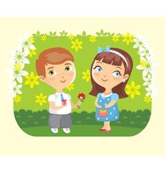 girl boy love date vector image