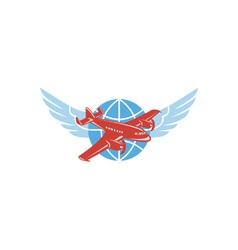 propeller airplane vector image