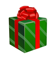 A gift box is placed vector image vector image
