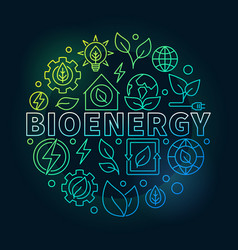bioenergy round colorful vector image