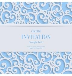 Blue 3d vintage christmas or invitation vector