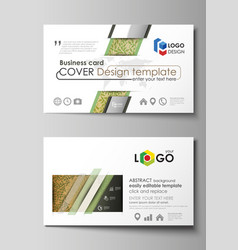 business card templates easy editable layouts vector image