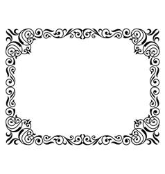calligraphy penmanship curly baroque frame black vector image vector image