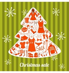 Christmas clothes set vector image vector image