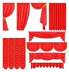 Different Types Of Theatrical Stage Curtain And vector image vector image