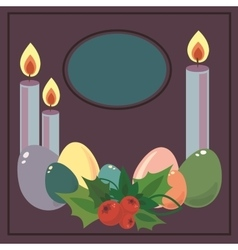 Easter frame with easter eggs Decorative frame vector image