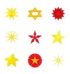 Figure star icons set cartoon style vector image vector image