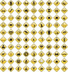 general signs and icons vector image vector image