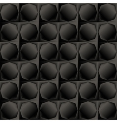 Geometric seamless monochrome background vector