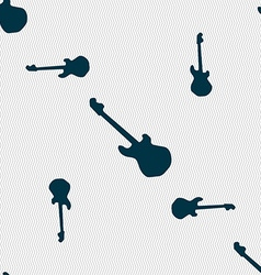 Guitar icon sign seamless pattern with geometric vector