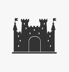 Icon castle silhouette vector