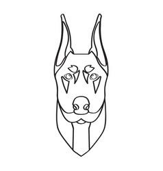 isolated doberman avatar vector image vector image