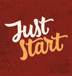 just star slogan modern calligraphy vector image vector image