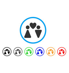 love couple rounded icon vector image
