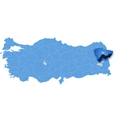 Map of turkey agri vector