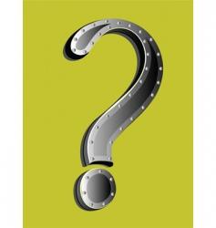 metallic question mark vector image vector image